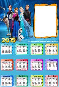 Calendario-Frozen-2015-com-moldura
