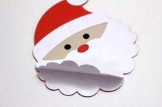 DIY Bastelideen für Weihnachtsbasteln mit Kindern, Geschenke selber machen, Weihnachtsmann aus Karton und Watte basteln