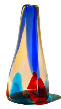 Gypsy Art Glass  Serafini Amelia  BIANCONI FOR VENINI MURANO RARE PEZZAME VASE