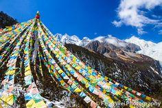 Tibetan Prayer Flags by Feng Wei Photography, via Flickr