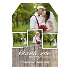 Country Wedding Thank You Cards Country Rustic Wood Thank You Wedding Photo Card