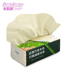 Bamboo Facial tissue with natural color.