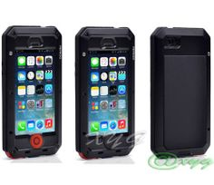Newest Extreme Shockproof Waterproof Dust/Dirt Proof Aluminum Metal Gorilla Glass Military Heavy Duty Protection Cover case for Apple iPhone 5 5S 5G Home Key for Fingerprint @Dena Allison (1-black/black/red) on http://unique-cases.kerdeal.com/newest-extreme-shockproof-waterproof-dustdirt-proof-aluminum-metal-gorilla-glass-military-heavy-duty-protection-cover-case-for-apple-iphone-5-5s-5g-home-key-for-fingerprint-xyg-1-blackblackred