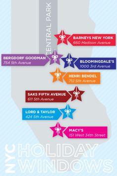 Best NY Holiday Windows Map