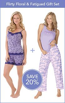 Lavender Fatigued Pajamas for Women & More | PajamaGram