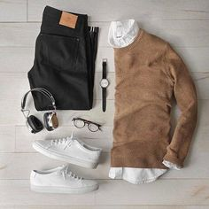 11 Insanely Cool Outfit Formulas For The Fall - Fall Outfits Casual Wear, Casual Outfits, Men Casual, Fashion Outfits, Fashion Men, Men's Outfits, Fashion Sale, Stylish Men, Paris Fashion