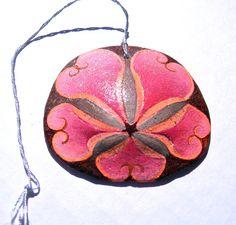 TUTTI FRUITI Painted California Sand Dollar Ornament. $ 17.50, SeaEccentric