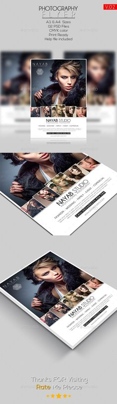 Photography Flyer Template 01 - Flyers Print Templates Photography Flyer, Photography Templates, Flyer Printing, Print Templates, Business Design, Flyer Template, Flyer Design, Wedding Events, Print Design