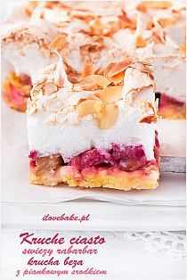 Składniki: - puszka mleka skondensowanego niesłodzonego… na Stylowi.pl Polish Desserts, Polish Recipes, Sweet Recipes, Cake Recipes, Dessert Recipes, Cinnamon Desserts, Easter Dishes, Rhubarb Cake, Biscuits