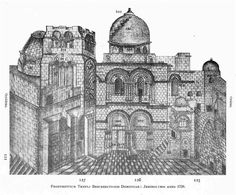 Jérusalem Saint-Sépulcre Elzear Horn Ichonographiae Monumentorum Terrae Sanctae 1724-1744