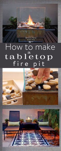 If you're short on space, this tabletop fire pit is perfect for you. Learn how to make it at The Art of Doing Stuff