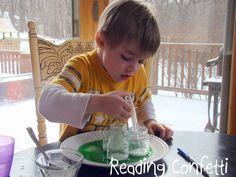 Preschool Science Experiment ~ Reading Confetti