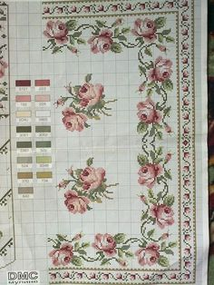 This Pin was discovered by Ewa Xmas Cross Stitch, Cross Stitch Borders, Cross Stitch Rose, Cross Stitch Baby, Cross Stitch Flowers, Cross Stitch Designs, Cross Stitching, Cross Stitch Embroidery, Cross Stitch Patterns