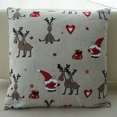 Linen Christmas pillow cover 18 inch by MintDesign on Etsy, $20.00