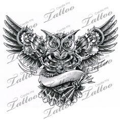 Steampunk Mechanical Owl | finally! ahaha #99771 | CreateMyTattoo.com
