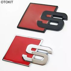 S Logo Sline Emblem Badge Car Sticker Red Front Rear Boot Door Side Fit For Audi Quattro VW TT SQ5 S6 S7 A4 Accessories 3D Sticker Car Sticker Car Parts Online with $6.55/Piece on Sara1688's Store | DHgate.com