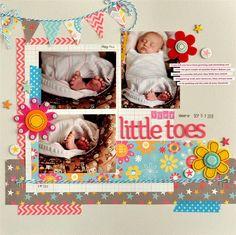 Tiny Little Toes - Scrapbook.com