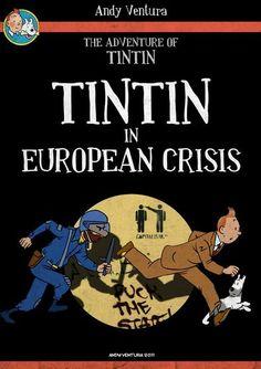 Tintin in European Crisis, by Andy Ventura