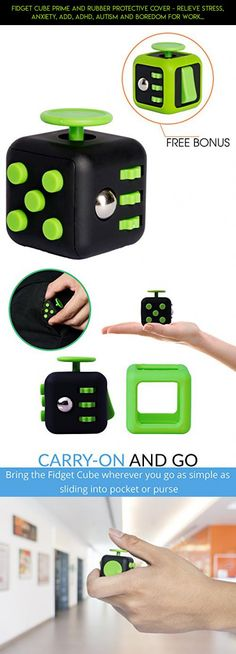 Fidget Cube Prime and Rubber Protective Cover - Relieve Stress, Anxiety, ADD, ADHD, Autism and Boredom for Work, School, Class - Primium Focus Gift Toy for Children and Adults (green black) #camera #pink #and #parts #products #black #racing #hot #gadgets #kit #plans #shopping #technology #fidget #fpv #drone #tech #cube