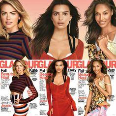 Beautiful!  @kateupton, @emrata, and @joansmalls are on the cover of #Glamour's new issue • • • • • • • • • • • • • • • • • • • • • • • • • • • • •  Lindas! #KateUpton, #EmilyRatajkowski e #JoanSmalls estão na capa da nova edição da @glamourmag