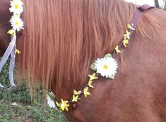 Yellow Forsythia and Daisy Equine Necklace  Rhythm by MyBuddyBling, $25.00