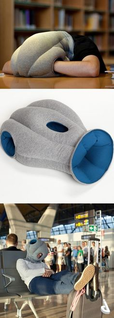 Ostrich Pillow - portable nap pillow for work meetings. Things To Buy, Stuff To Do, Good Things, Cool Stuff, Funny Things, Funny Memes, Hilarious, Cool Inventions, Cool Ideas