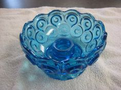vintage l e smith blue moon and stars candle holder 4 1/2 inches mint | Pottery & Glass, Glass, Glassware | eBay!