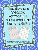 As I walk around and observe my students working, I use these checklists and anecdotal records to record their progress. I updated mine to . Classroom Organization, Classroom Management, Anecdotal Records, Preschool Director, Paper Clutter, Teacher Hacks, Assessment, Kindergarten, Student