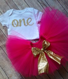 Hey, I found this really awesome Etsy listing at https://www.etsy.com/listing/234028955/hot-pink-and-gold-first-birthday
