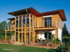 Residencia diseñada y orientada para aprovechar los rayos del sol y conservar una temperatura interior confortable