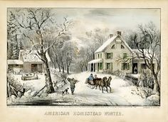 Currier and Ives - American Homestead Winter