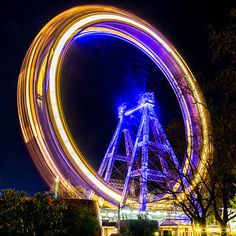 Riesenrad by Night