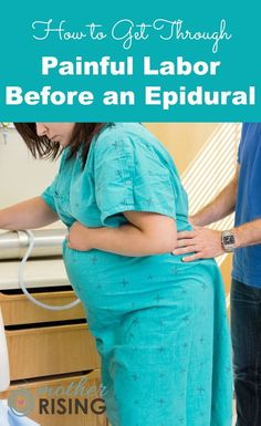 Knowing how to cope through painful labor before an epidural requires an understanding about what labor is and how it works. Pregnancy Months, Pregnancy Info, Pregnancy Stages, Pregnancy Workout, Pregnancy Care, Labor Nurse, Hospital Birth, Natural Birth, After Baby