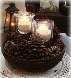 After taking down the Christmas decor earlier this month,  I went with a more neutral look for the living room in hopes of creating a wint...