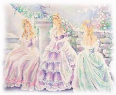 Rococo Women Painting. Sold. www.workingforcarrots.com