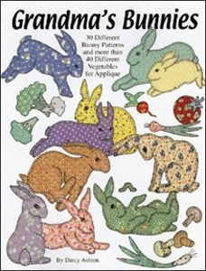 My sister and I are fans of Darcy Ashton - Grandma's Bunnies: 30 Different Bunny Patterns and More Than 40 Different Vegetables for Applique: Darcy Ashton Applique Quilt Patterns, Applique Templates, Felt Patterns, Wool Applique, Applique Ideas, Embroidery Patterns, Baby Girl Quilts, Girls Quilts, Quilting Tutorials