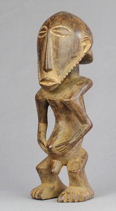 Rare effigie d'ancêtre Basikasingo PRE BEMBE statue Misi ancestor figure Congo