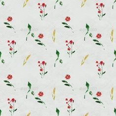◤ [GET]◕ Seamless Pattern With Red Flowers Art Artistic Artwork Background Beauty Bloom Floral Flowers, Red Flowers, Flower Art, Flowers Garden, Floral Watercolor Background, Patterns In Nature, Nature Pattern, Bloom Blossom, Flower Template