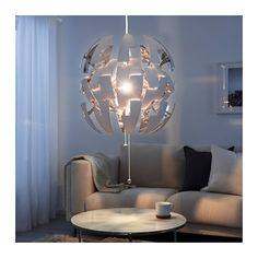 IKEA PS 2014 Pendant lamp - white/silver color - IKEA lamp shade for fits Ikea Ps 2014, Lustre Ikea, Ikea Chandelier, Room Lights, Ceiling Lights, Modern Ceiling, Affordable Furniture, Pendant Lamp, Houses
