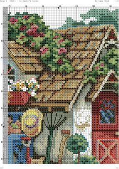 ru / Фото - Gardener's Haven - Cross Stitch House, Cross Stitch Tree, Cute Cross Stitch, Cross Stitch Flowers, Cross Stitch Charts, Counted Cross Stitch Patterns, Cross Stitch Designs, Cross Stitch Embroidery, Tambour Beading