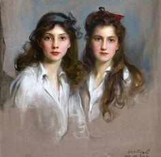 Philip Alexius de László, portrait of Princesses Xenia and Nina Georgievna