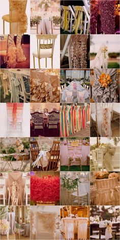 Wedding Chair Swag Decorations - Take a look at these fantastic ideas for Chair Swag and Wedding Chair Decorations!