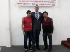 Meus amigos Joel e Pastor Manoel, líderes da Comunidade Maranata de Artur Alvim.