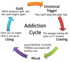 Addiction Cycle. Right on the spot!!