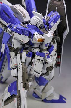 GUNDAM GUY: MG 1/100 Hi Nu Gundam Ver.Ka - Customized Build Gunpla Custom, Custom Gundam, Suit Of Armor, Gundam Model, Mobile Suit, Action Figures, Japanese Style, Scale Models, Robots
