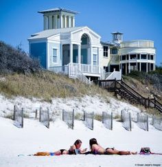 """Hailed by Time magazine as perhaps """"the most astounding design achievement of its era,"""" Seaside is credited with founding a global town-planning movemen Panama City Beach, Beach Town, Beach House, Seaside Florida, Florida Trips, Places To Travel, Places To Go, New Urbanism, Destin Beach"""