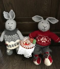 Tea Time for Two - SuzyMarie and Julie Williams Little Cotton Rabbits Patterns