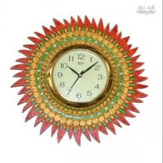 Unique design, and fine finish make this wall clock a welcoming addition in any place. This paper mache wall clock has numerals, beautifully inscribed on it.This Artistic paper mache Wall Clock is especially designed to keep you in sync with the time.