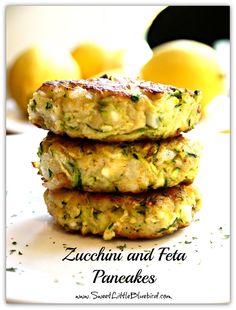 Zucchini and Feta Pancakes | SweetLittleBluebird.com