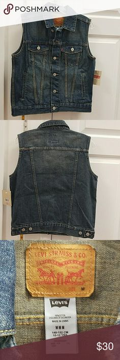 Levi Jean trucker vest new with tags Multiple sizes brand new with tags, Jean vest jackets Levi's Jackets & Coats Vests